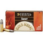 FED AMMO GOLD MEDAL .22LR 1200FPS. 40GR. LEAD-RN 50PK