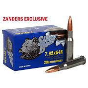SILVER BEAR 7.62X54R 174GR FMJ ZINC PLATED CASE 20-PACK