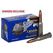SILVER BEAR 7.62X54R 203GR. SP SOFT-POINT ZINC PLATED 20-PACK