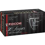 FIOCCHI AMMO .30 LUGER 93GR. FMJ 50-PACK