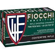 FIOCCHI AMMO 7MM REM. MAG. 139GR. PSP 20-PACK