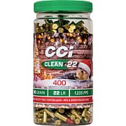 CCI AMMO CLEAN .22LR POLYMER COATED LEAD RN 400-PACK BOTTLE