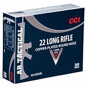 CCI AMMO TACTICAL .22LR 1200FPS. 40GR. CPRN 300-PK