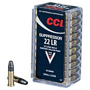 CCI AMMO SUPPRESSOR .22LR 970FPS. 45GR. HP 50PK.