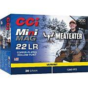 CCI AMMO MINI-MAG .22LR MEAT EATER 36GR. HP 300-PK