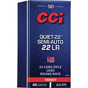 CCI SEMI-AUTO QUIET .22LR LEAD RN 50-PACK