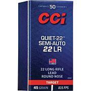 CCI SEMI-AUTO QUIET .22LR LEAD RN 50-PACK