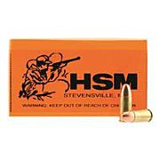 HSM AMMO RMFG 9MM LUGER 115GR PLATED LEAD ROUND NOSE 50-PACK