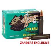 BROWN BEAR .223 REMINGTON 55GR JHP 20-PACK