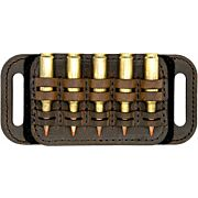 VERSACARRY LEATHER AMMO CADDY BELT SLIDE HOLDS 5 SHELLS BRN!