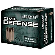 LIBERTY AMMO CIVIL DEFENSE .38 SPECIAL 50GR. HP 20-PACK