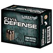 LIBERTY AMMO CIVIL DEFENSE .380ACP 50GR. COPPER HP 20-PK
