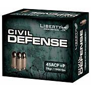 LIBERTY AMMO CIVIL DEFENSE .45ACP 78GR. HP 20-PACK