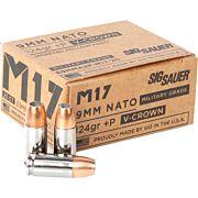 SIG AMMO M17 9MM+P LUGER 124GR. ELITE V-CROWN JHP 20-PK
