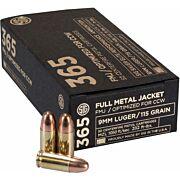 SIG AMMO 365 9MM LUGER 115GR. FMJ 50-PACK