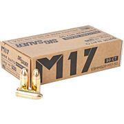 SIG AMMO M17 9MM LUGER +P 124GR. FMJ 50-PACK