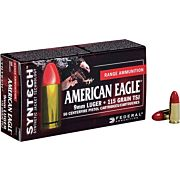 FED AMMO AE 9MM LUGER 115GR. SYNTHETIC JACKET TSJ 50-PACK