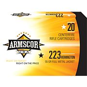 ARMSCOR AMMO .223 REMINGTON 55GR. FMJ 20-PACK