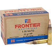 FRONTIER AMMO 5.56MM NATO 55GR. HPBT MATCH 50-PACK