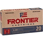 FRONTIER AMMO 5.56MM NATO 62GR. BTHP MATCH  20-PACK