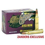 GOLDEN BEAR .223 REMINGTON 62GR. SOFT-POINT 20-PACK