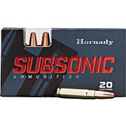 HORNADY AMMO SUBSONIC .30-30 WIN. 175GR. SUB-X 20-PACK