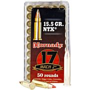 HORNADY AMMO .17MACH2 15.5GR. NTX 50-PACK
