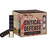 """HORNADY AMMO CRITICAL DEFENSE .410 2.5"""" 1-SLUG & 2-.350"""" RB"""