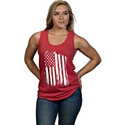 NINE LINE APPAREL AMERICA WOMEN'S TANK RED 2X-LARGE