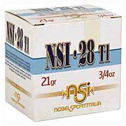"""NOBELSPORT 28GA. 2.75"""" 1300FPS. 3/4 OZ. #8 25-PACK"""