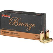 PMC AMMO .40SW 180GR. FMJ-FP 50-PACK