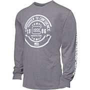 GLOCK CROSSOVER LONG SLEEVE T-SHIRT GREY LARGE