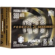 FED AMMO PUNCH .380ACP 85GR. JHP 20-PACK