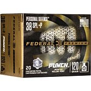 FED AMMO PUNCH .38SPL 120GR. JHP 20-PACK