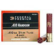 """FED AMMO PREMIUM .410 2.5"""" 1200FPS. 7/16OZ. #4 20-PACK"""