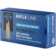 PPU AMMO .300 AAC BLACKOUT 125GR. FMJ 20-PACK