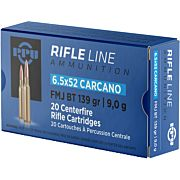 PPU AMMO 6.5X52 CARCANO 139GR. FMJ 20-PACK