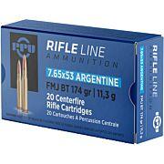 PPU AMMO 7.65X53 ARGENTINE MAUSER 174GR. FMJ 20-PACK