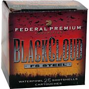 "FED AMMO BLACK CLOUD 20GA 3"" 1350FPS. 1OZ. #4 25-PACK"
