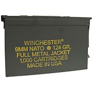 WIN AMMO NATO 9MM LUGER 124GR. FMJ-RN 1000-PK AMMO CAN