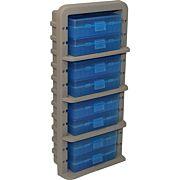 MTM AMMO RACK W/ 8 P509M 50RND FLIP TOP BOXES CLR BLUE/DK ETH
