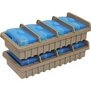 MTM AMMO RACK W/ 4 RS50 50RND FLIP TOP BOXES CLR BLUE/DK ETH