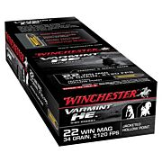 WIN AMMO SUPREME .22WRM 2120FPS. 34GR. JHP 50PACK