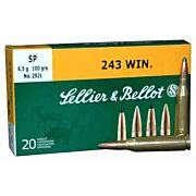S&B AMMO .243 WIN. 100GR. SP 20-PACK