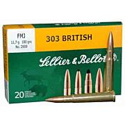 S&B AMMO .303 BRITISH 180GR. FMJ 20-PACK