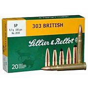 S&B AMMO .303 BRITISH 150GR. JSP 20-PACK