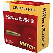 S&B AMMO .338 LAPUA MAG MATCH 250GR BTHP 10-PACK