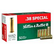 S&B AMMO .38 SPECIAL 148GR. LEAD WADCUTTER 50-PACK
