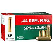 S&B AMMO .44 REM. MAGNUM 240GR. JSP 50-PACK