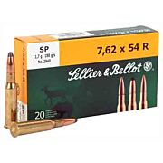 S&B AMMO 7.62X54R 180GR. SP 20-PACK